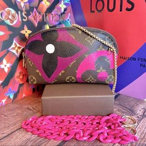 Louis Vuitton cosmetic crossbody custom painted